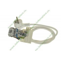 c00259297 Cable alimentation avec bloc antiparasites pour lave linge