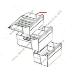 tiroir supérieur de congélateur whirlpool 480132101592