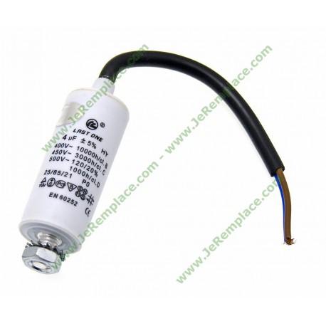 4 Micro-Farads Condensateur à fils permanent pour moteur