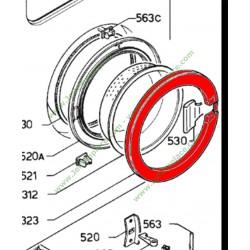 Encadrement exterieur de hublot blanc 1250249107