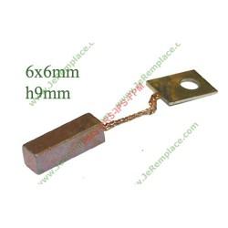 Charbon de contact arrière 1123438101 seche linge electrolux