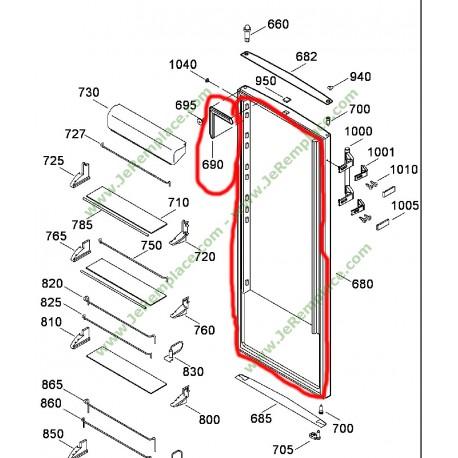joint de porte de r frig rateur liebherr 7108668 7111170 7108726. Black Bedroom Furniture Sets. Home Design Ideas