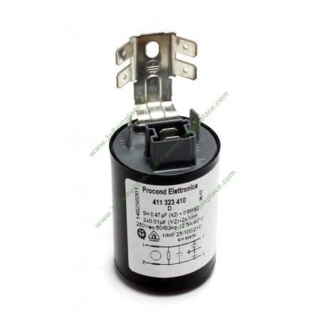 Filtre antiparasites 1462502012 pour lave linge Electrolux 1082257005