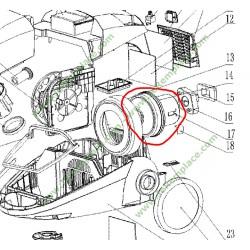 Moteur d'aspirateur Electrolux 4055132023