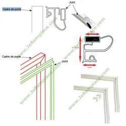 Kit joint profil talon pour réfrigérateur congélateur 2000x1000 aimanté