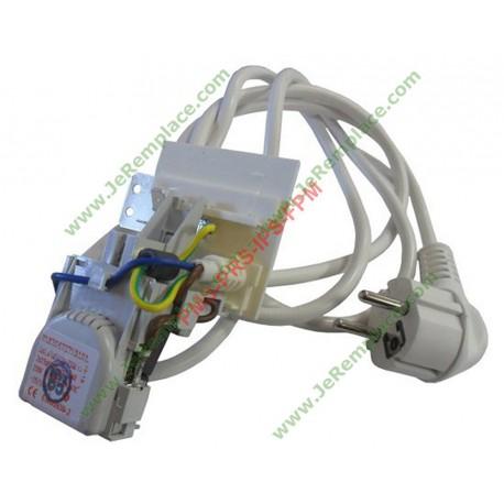 Cable d'alimentation complet anti-parasites c00270937 lave linge indésit