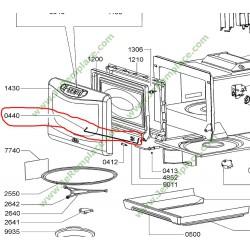 Charnière de porte 481241778145 pour four micro-ondes whirlpool