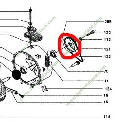 Poulie tambour 55x9989 lave linge L69B004A6 brandt thomson