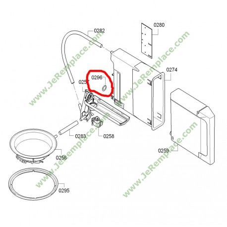 00608986 joint int rieur tanch it de r servoir pour four vapeur. Black Bedroom Furniture Sets. Home Design Ideas