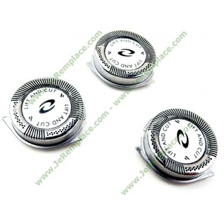 HQ8 hq9 hq177 Têtes de rasoir Philips pour séries Sensotec 7100 7200