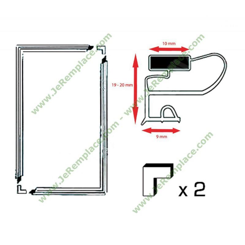 Kit joint r frig rateur talon magn tique 700x1300 mm cong lateur - Joint de frigo universel ...