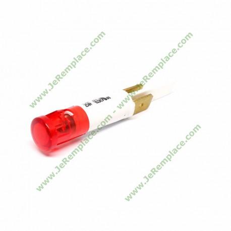 Diamètre 9 mm Voyant rouge à cosses 220 Volts compatible tout appareil