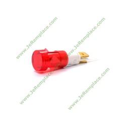 Voyant lumineux rouge à cosse diamètre 12 mm pour tout appareil