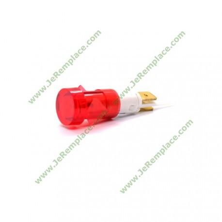 Voyant lumineux rouge à cosse diamètre 12 mm tout appareil