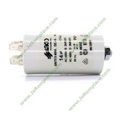 Condensateur permanent 14 Micro Farads 450 Volts pour moteur électrique