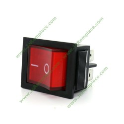 Interrupteur à bascule bipolaire 16A Rouge marche arrêt