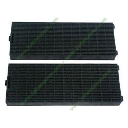 2 Filtres à charbon anti-odeur rectangle 49016877 c00268402 pour hotte