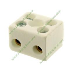 4 mm² Bornier porcelaine 2 pôles pour appareil de cuisson