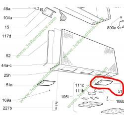 49001414 cache lampe droit pour hotte