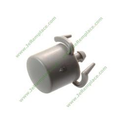 Bouton gris métallique 146403103 pour lave linge