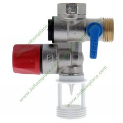 Groupe de sécurité inox droit 3/4 (20x27) 2252570 pour chauffe eau
