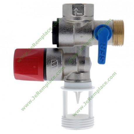 2252570 Groupe de sécurité inox droit 3/4 (20x27) pour chauffe eau