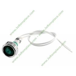 Voyant vert à fils Diam 10mm 220 Volts