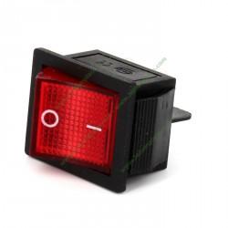 Interrupteur bipolaire rouge 27,3 X 24,9 mm 4 cosses