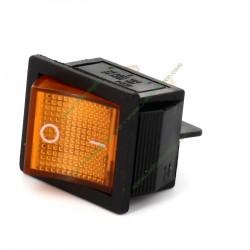 Interrupteur bipolaire orange 27,3 X 24,9 mm 4 cosses