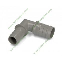 Coude équerre raccord pour tuyau de vidange diamètre 20 mm
