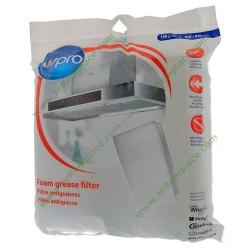 Filtre blanc anti-graisse anti-odeur à découper hotte toutes marques
