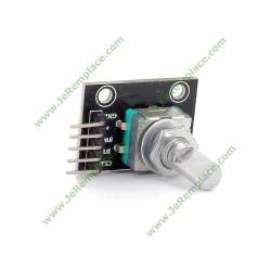 Potentiomètre angulaire (360 degrés) Keyes KY-040 pour arduino