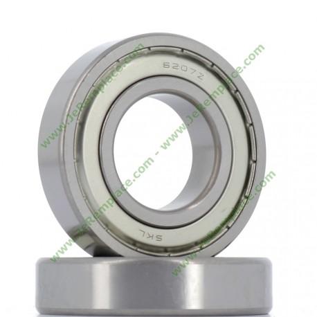 6207-ZZ Roulement à billes 35x72x17 mm