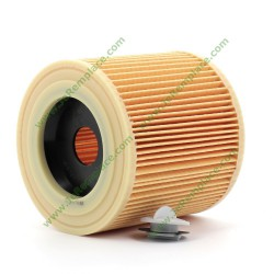 Filtre cartouche avec bouchon 64145520 pour aspirateur Karcher (adaptable)