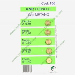 5 injecteurs méthane universels