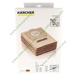 Boite de 5 Sacs à poussière 69591300 pour aspirateur Karcher