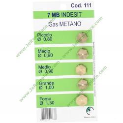 sachet de 5 injecteurs pour gaz naturel diamètre filetage 7