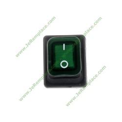 interrupteur lumineux bipolaire vert 20A-6.3mm