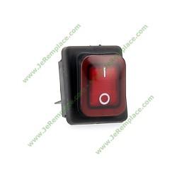 interrupteur lumineux bipolaire rouge 16A 6.3mm
