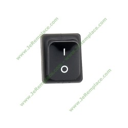 interrupteur lumineux bipolaire noir 16A-6.3mm
