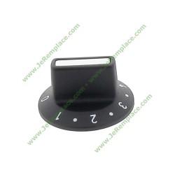 bouton noir pour four