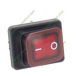 interrupteur à bascule avec soufflet lumineux bipolaire rouge 20A-6.3mm