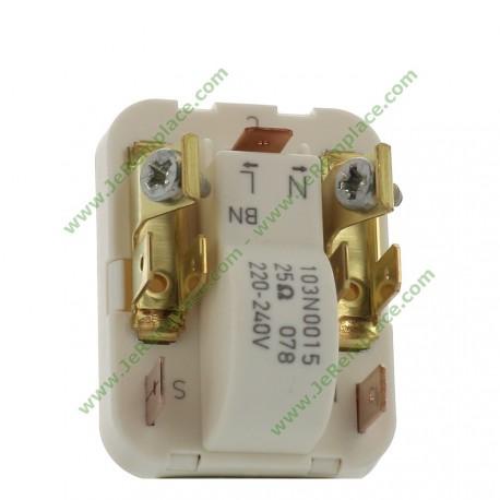 103N0015 Starter relais compresseur réfrigérateur ou congélateur universel