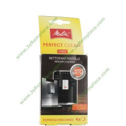 6762481 Nettoyant 4 pastilles Perfect Clean Melitta pour expresso