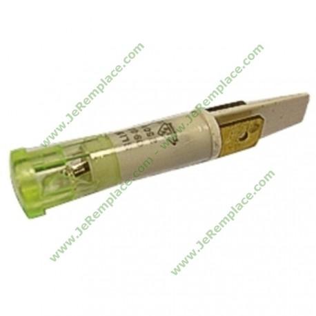 Voyant vert à cosses 220 volts diamètre 9 mm