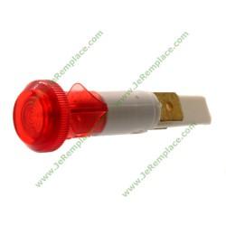 Voyant rond rouge à cosses Diamètre 10mm 220 Volts