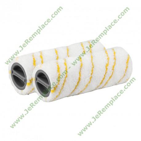 20550060 kit 2 Rouleaux microfibre pour nettoyeur de sol Karcher