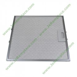 filtre carré métallique 481248058144 pour hotte