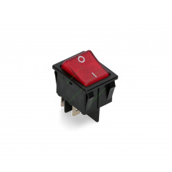 Interrupteur lumineux rouge 30 mm x 22 mm 16 Ampère