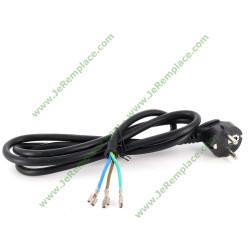 Câble d'alimentation 3G1.5 avec cosses faston 6.3